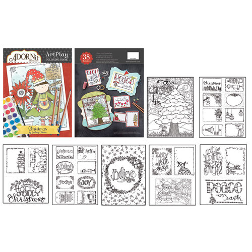 Carolee's Creations - AdornIt - Art Play Coloring Book - Christmas