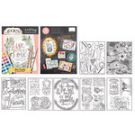 Carolee's Creations - Adornit - Art Play Coloring Book - Live Simply