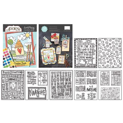 Carolee's Creations - Adornit - Documented Faith Collection - Art Play Coloring Book - Creative Faith