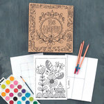 Carolee's Creations - Adornit - Documented Faith Collection - Art Play Planner - Be Happy - Undated
