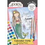 Carolee's Creations - AdornIt - Art Play Coloring Book - Mini - Calendar Girls - Undated
