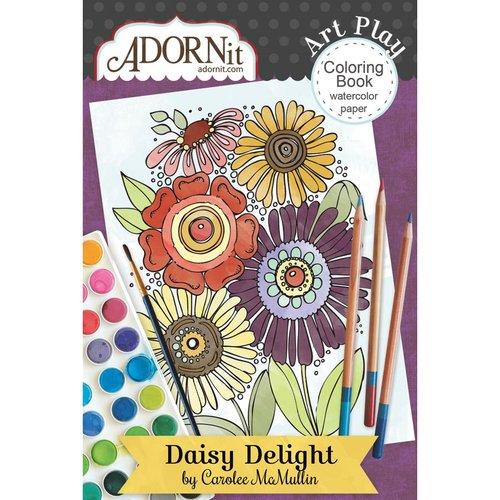 Carolee's Creations - AdornIt - Art Play Coloring Book - Mini - Daisy Delight