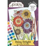 Carolee's Creations - AdornIt - Art Play Coloring Book - Mini - Daisy Delight