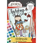 Carolee's Creations - AdornIt - Art Play Coloring Book - Mini - Girlfriends