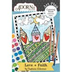 Carolee's Creations - AdornIt - Art Play Coloring Book - Mini - Love and Faith