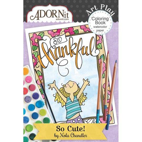 Carolee's Creations - AdornIt - Art Play Coloring Book - Mini - So Cute