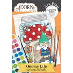 Carolee's Creations - AdornIt - Art Play Coloring Book - Mini - Gnome Life