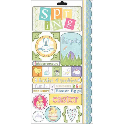 Carolee's Creations - Adornit - Easter Collection - Cardstock Stickers - Bunny Hop