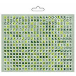 Carolee's Creations - Adornit - Camping Adventure Collection - Alphabet Cardstock Stickers - Jade