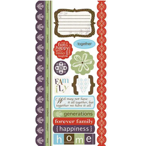 Carolee's Creations - Adornit - Family Hertiage Collection - Cardstock Stickers - Family Heritage