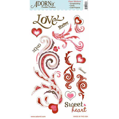 Carolee's Creations - Adornit - Lapreal Collection - Clear Stickers - Love
