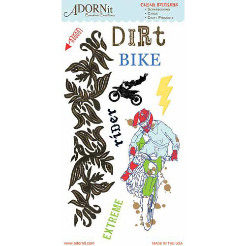 Carolee's Creations - Adornit - Dirt Bike Collection - Clear Stickers - Extreme