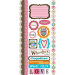 Carolee's Creations - Adornit - Pink Hoot Collection - Cardstock Stickers - Who's Cute
