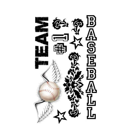 Carolee's Creations - Adornit - Baseball Collection - Clear Stickers - Baseball