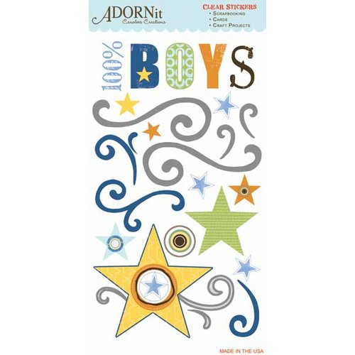 Carolee's Creations - Adornit - Brother Collection - Clear Stickers - Brother
