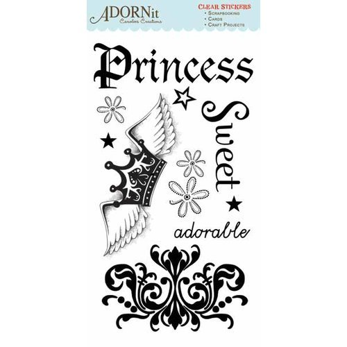 Carolee's Creations - Adornit - Paisley Princess Collection - Clear Stickers - Princess