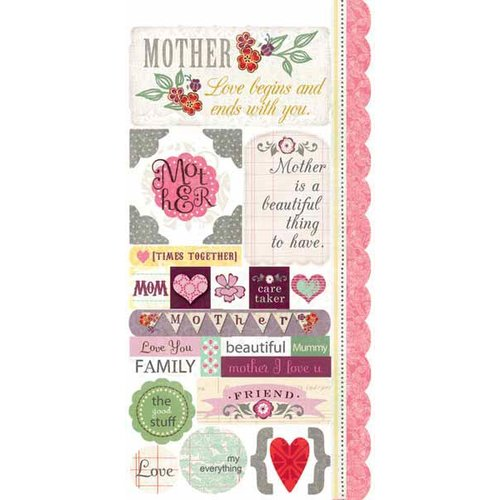 Carolee's Creations - Adornit - Charmed Collection - Cardstock Stickers - Beautiful Mom