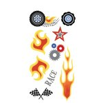 Carolee's Creations - Adornit - Rev 'Em Up Collection - Clear Stickers - Flames