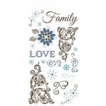 Carolee's Creations - Adornit - Capri Taupe Collection - Clear Stickers - Love and Family