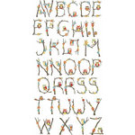 Carolee's Creations - Adornit - Nested Owls Charcoal Collection - Clear Stickers - Alphabet