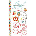 Carolee's Creations - Adornit - Nested Owls Charcoal Collection - Clear Stickers - Owl Friends