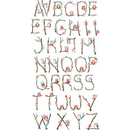 Carolee's Creations - Adornit - Nested Owls Coral Collection - Clear Stickers - Alphabet