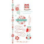 Carolee's Creations - Adornit - Nested Owls Coral Collection - Clear Stickers - Owl Friends
