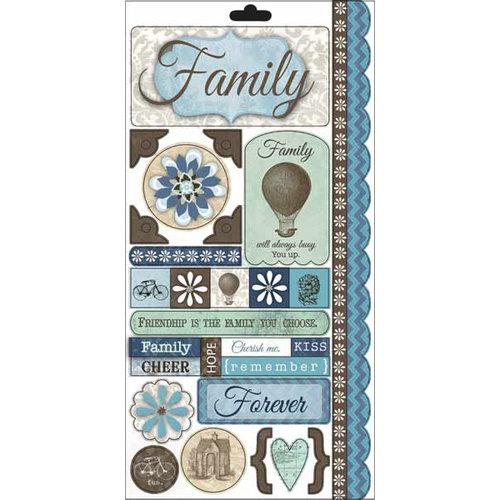 Carolee's Creations - Adornit - Capri Taupe Collection - Cardstock Stickers - Capri Forever