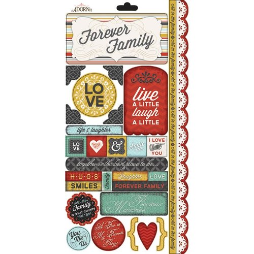 Carolee's Creations - Adornit - Forever Family Collection - Cardstock Stickers - You, Me, and Us