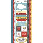 Carolee's Creations - Adornit - Rainy Days and Sunshine Collection - Cardstock Stickers - Rain Rain