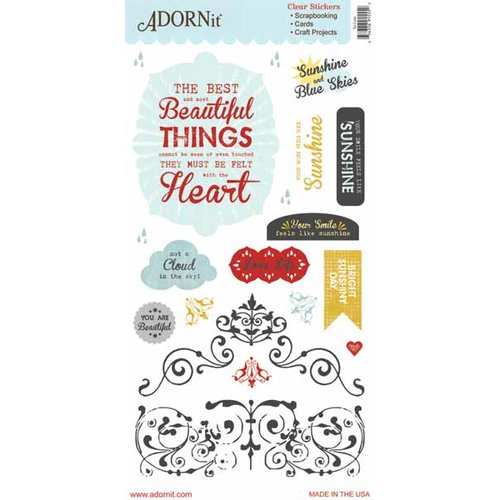 Carolee's Creations - Adornit - Rainy Days and Sunshine Collection - Clear Stickers - So Cute