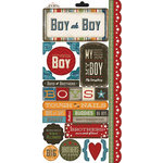 Carolee's Creations - Adornit - Rough and Tough Collection - Cardstock Stickers - Boy Oh Boy