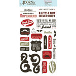 Carolee's Creations - Adornit - Rough and Tough Collection - Clear Stickers - Tough Guy