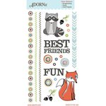 Carolee's Creations - Adornit - Timberland Critters Collection - Clear Stickers - Critter Friends