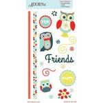 Carolee's Creations - Adornit - Nested Owl Mint Collection - Clear Stickers - Owl Mint