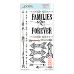 Carolee's Creations - Adornit - Family Path Collection - Clear Stickers - Forever