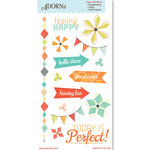 Carolee's Creations - Adornit - Kaleidoscope Collection - Clear Stickers - Feeling Happy
