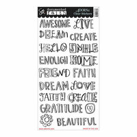 Carolee's Creations - Adornit - Documented Faith Collection - Clear Stickers - Faith BIG Words