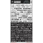 Carolee's Creations - Adornit - Documented Faith Collection - Clear Stickers - Faith Text Strips