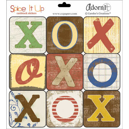Carolee's Creations - Spice it Up Cardstock Stickers - Everyday Collection - Tic Tac Toe