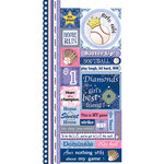 Carolee's Creations Adornit - Softball Collection - Cardstock Stickers - Softball