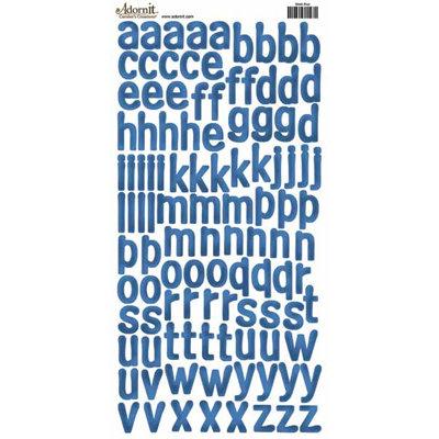 Carolee's Creations - Adornit - Alphabet Cardstock Stickers - Sleek Blue
