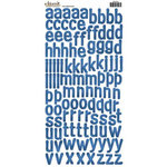 Carolee's Creations - Adornit - Alphabet Cardstock Stickers - Sleek Blue