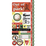 Carolee's Creations - Adornit - Baseball Collection - Cardstock Stickers - Baseball Attitude