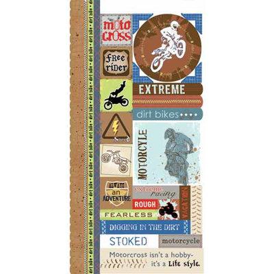 Carolee's Creations - Adornit - Dirt Bike Collection - Cardstock Stickers -  Dirt Bike Attitude