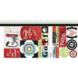 Carolee's Creations - Adornit - Golf Collection - Cardstock Stickers - Golf Attitude