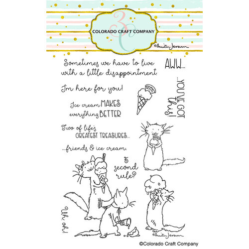 Colorado Craft Company - Clear Photopolymer Stamps - Ice Cream Day