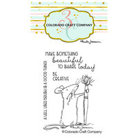 Colorado Craft Company - Clear Photopolymer Stamps - Mini - Be Creative