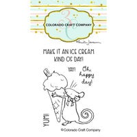 Colorado Craft Company - Clear Photopolymer Stamps - Mini - Ice Cream Day