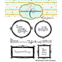 Colorado Craft Company - Clear Photopolymer Stamps - Wall Words